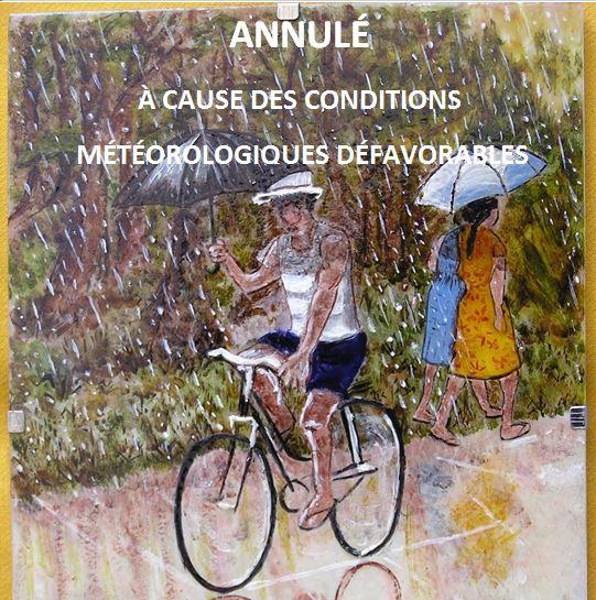 Conditions météo défavorables